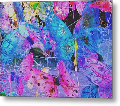 Butterfly Wings Metal Print by Vicki Lomay