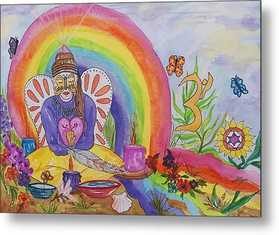 Butterfly Woman Healer I Am Metal Print