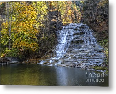 Buttermilk Falls Autumn Metal Print by Colin D Young