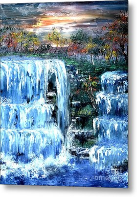 Buttermilk Falls Metal Print by Denise Tomasura
