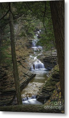 Buttermilk Falls In Autumn IIi Metal Print