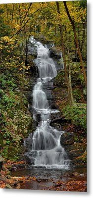 Buttermilk Falls In Autumn Metal Print by Stephen  Vecchiotti