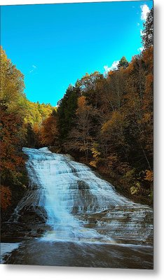 Metal Print featuring the photograph Buttermilk Falls Ithaca New York by Paul Ge