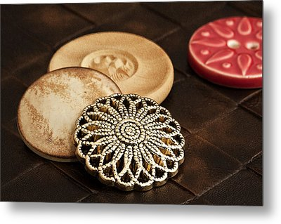 Button Still Life Metal Print