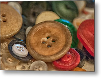 Buttons Metal Print by Brenda Bryant