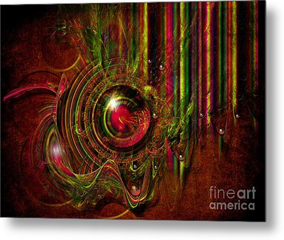 Metal Print featuring the digital art Shooting Gallery by Alexa Szlavics