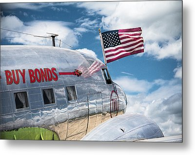 Metal Print featuring the photograph Buy Bonds by Steven Bateson