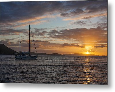 Bvi Sunset Metal Print