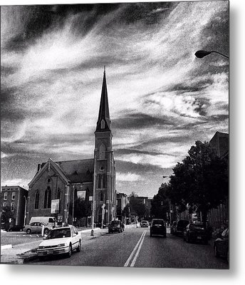 Metal Print featuring the photograph Bw Hanover Street by Toni Martsoukos