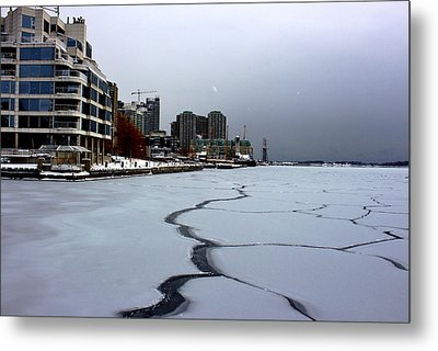 By Frozen Harbour Metal Print by Nicky Jameson
