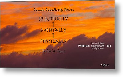 By His Power We Are Driven Metal Print