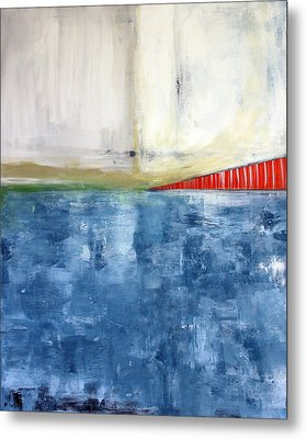 By The Bay- Abstract Art Metal Print