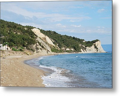 Metal Print featuring the photograph By The Beach by George Katechis