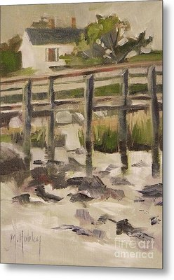 By The Dock Metal Print by Mary Hubley