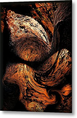 By The Fireside Metal Print