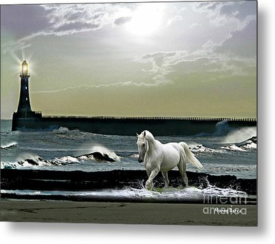 By The Light Of The Silvery Moon Metal Print by Morag Bates