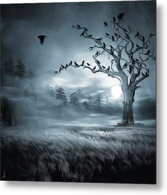 By The Moonlight Metal Print by Lourry Legarde