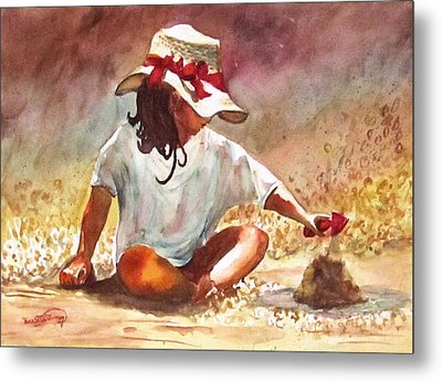 By The Sea Metal Print by Barbara Jung
