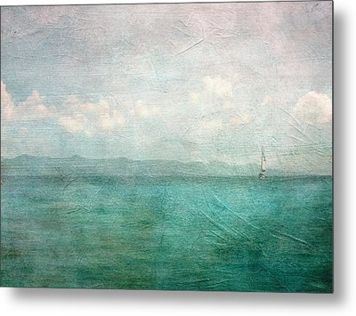 By The Sea Metal Print by Heather Green
