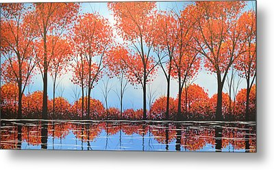 By The Shore Metal Print by Amy Giacomelli