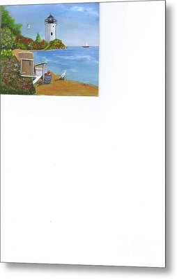 By The Shore Metal Print