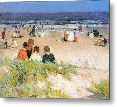By The Shore Metal Print by Edward Potthast