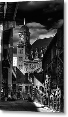 By The Station Metal Print