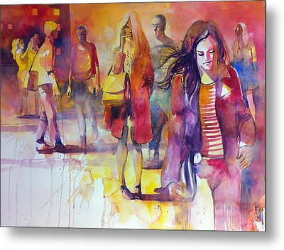 By The Street Metal Print by Alessandro Andreuccetti