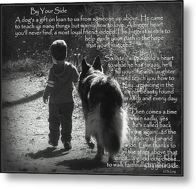By Your Side Paw Print Metal Print