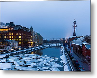 Bypass Canal Of Moscow River - Featured 3 Metal Print by Alexander Senin