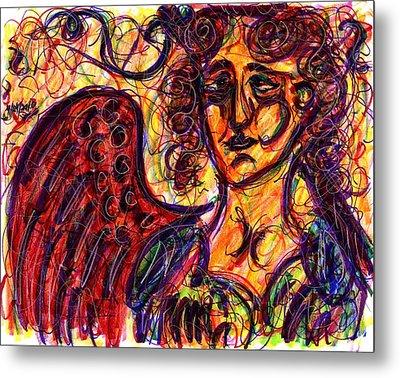 Byzantine Angel Metal Print by Rachel Scott