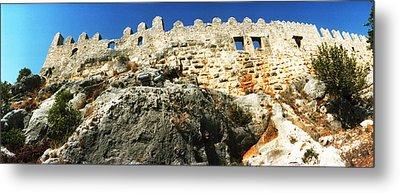 Byzantine Castle Of Kalekoy, Antalya Metal Print by Panoramic Images
