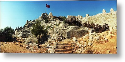 Byzantine Castle Of Kalekoy Metal Print by Panoramic Images