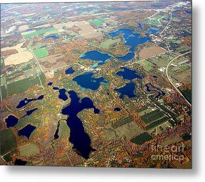 C-020 Chain O Lakes Waupaca Wisconsin Fall Metal Print by Bill Lang