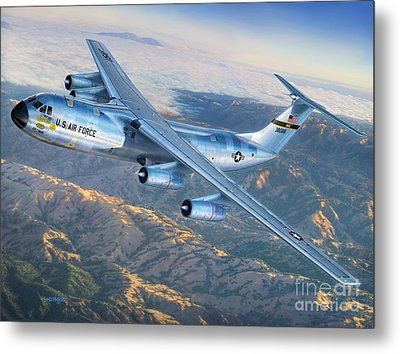 C-141 Starlifter The Golden Bear Metal Print