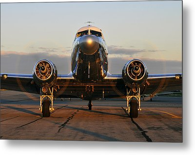 Metal Print featuring the photograph C-47 Skytrain by Dan Myers