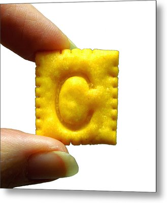 Metal Print featuring the photograph C For Cheese Cracker by Pete Trenholm
