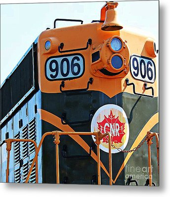 C N R Train 906 Metal Print by Barbara Griffin