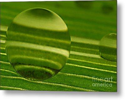 C Ribet Orbscape Green Jupiter Metal Print