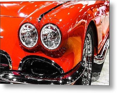 C1 Red Chevrolet Corvette Picture Metal Print by Paul Velgos