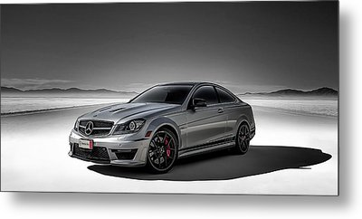 C63 Amg Metal Print by Douglas Pittman