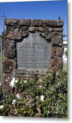 Ca-220 San Rafael Arcangel Mission Metal Print by Jason O Watson