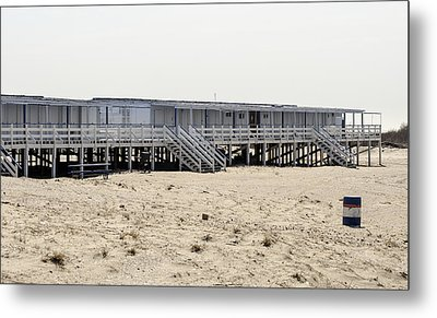 Cabanas Breezy Point Surf Club Metal Print by Maureen E Ritter