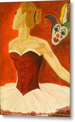 Cabaret Ballerina Metal Print by Elena  Constantinescu