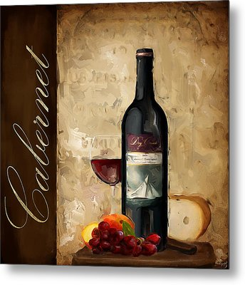 Cabernet IIi Metal Print by Lourry Legarde