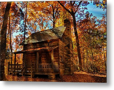 Cabin At The Cove Metal Print by Lynn Bauer