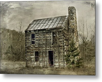 Cabin By The Track Series II Metal Print by Kathy Jennings