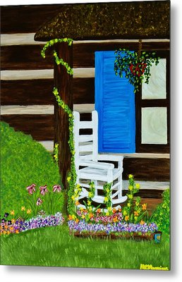 Metal Print featuring the painting Cabin Fever by Celeste Manning
