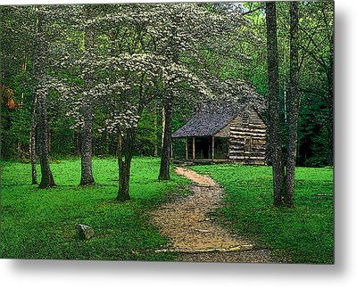 Metal Print featuring the photograph Cabin In Cades Cove by Rodney Lee Williams