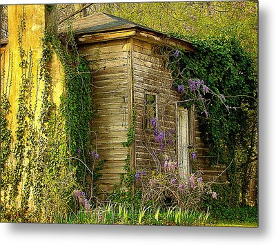 Cabin In The Back Metal Print